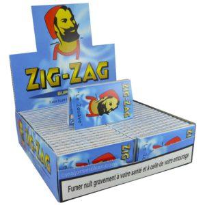 feuille a rouler zig zag 602 bis bleu pas cher, feuille courte,feuille à rouler regular, zig zag , le zouave, feuille à rouler Zig Zag bleu