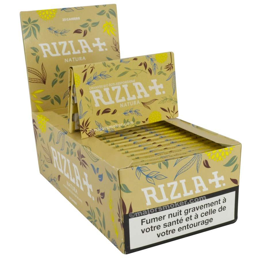 Rizla Courte Natura 2 boite de 50 carnets de Feuille à rouler bio