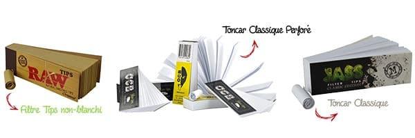 filtre cigarette carton, filtre tips, filtre toncar, filtre toncar pas cher