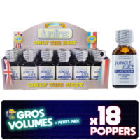 Poppers Jungle Juice Platinium, display poppers Jungle Juice Platinium, boite de poppers, Poppers Jungle Juice Platinium pas cher, poppers stimulant, aphrodisiaque, Poppers petit prix