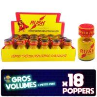 Poppers Rush, Poppers Rush Original, display poppers Rush, boite de poppers, Poppers Rush pas cher, poppers stimulant, aphrodisiaque, Poppers petit prix