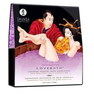 shunga, sel de bain, sel de bain maison, lovebath, lovebath lotus, love bath, gel de bain, gelée de bain, bain japonais, cristaux de bain, kit sel de bain